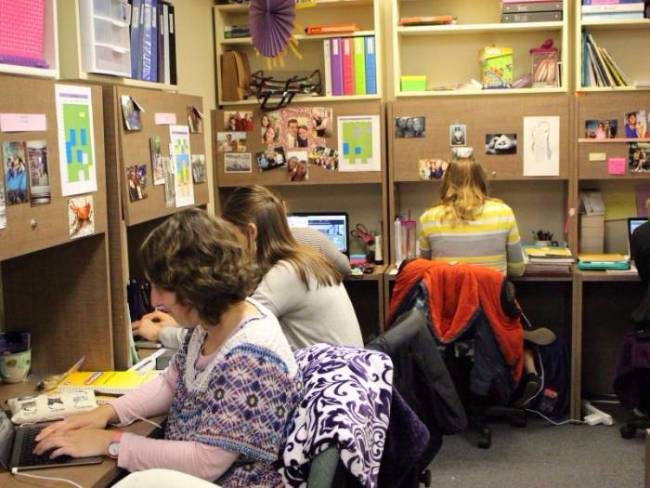 Individual work space for students