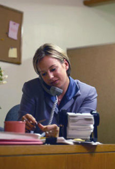 Photo of Case Manager at desk