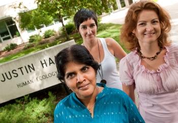 From left are Uma Chitra, Laura Vazquez Araujo, and Svetlana Cotelea