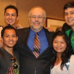 Medeiros and bridges students