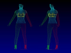 A 3-D body scanner is only one system Minyoung Suh uses in her research.