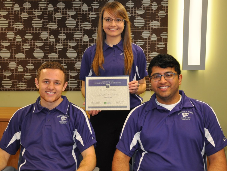 Winning team: Cole Foster, Mariah Bausch and Andy Rao.