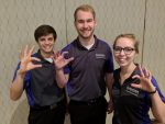 The AFCPE Compeition Team of Phillip Wegman, Adam Eilert and Jessica Lickteig.